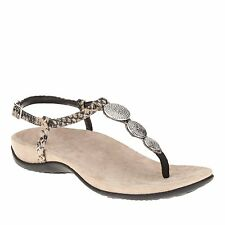 Vionic by Orthaheel Lizbeth Natural Snake Sandals