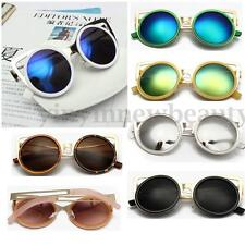 Chic Charm Lady Cat Eye Ear Shades Metal Lens Reflective Sunglasses Eyewear New