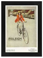 AD33 Vintage 1920's Raleigh Bicycles Bike Advertisement Framed Poster A3/A4