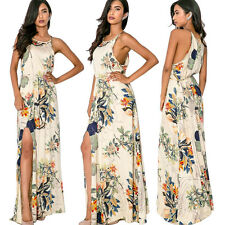 Sexy Women Summer Boho Floral Long Maxi Evening Party Dress Beach Dress Sundress