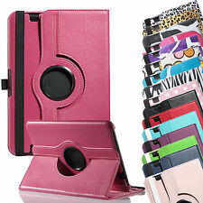 "360 Rotating PU Leather Case Cover w Stand For Amazon Kindle Fire HD 8.9"" 2012"