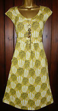 Ladies Boden Tunic Tea Dress Yellow Black Vintage style Cotton Mix Summer  8-18