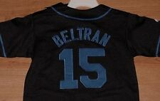 Carlos Beltran #15 New York Mets Youth Jersey Black Embroidered Logos MLB