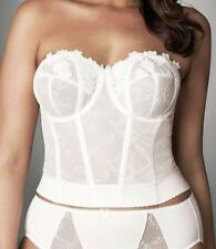 NEW ELOMI IVORY STRAPLESS BUSTIER 38C WEDDING BRIDAL FULL CUP BRA LONGLINE CREAM