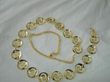 Gold S Shape In Hollow Circle Metal Chain Belt One Size Free Style New
