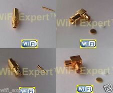 MCX or MMCX MALE Straight or Angled for RG405 RF Semi Rigid Coax Cable Connector