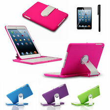 Stand Case For ipad mini 3 2 1 w/ 360 degree Rotatable bluetooth keyboard in UK