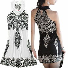 New Women's Boho Sleeveless Totem Floral Evening Party Cocktail Short Mini Dress