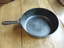 "Vintage 10 1/2"" x 3"" deep chicken fryer fry pan skillet no lid cast iron"