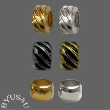 CRIMP BEADS CHOOSE RONDELLE RIBBED OR ROUND SMOOTH JEWELRY FINDINGS 200PCS