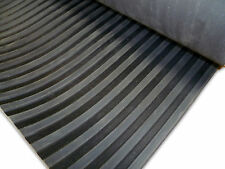 HEAVY DUTY BROAD/WIDE RIBBED RUBBER MATTING 1.2M WIDE X 6MM THICK