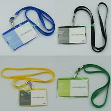 ID card holder Badge Vertical Retractable and Lanyard Neck Straps Pick Color