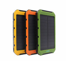 20000mAh SOLAR Panel Battery 2USB Power Bank Charger For Mobile Phone+4in1 Cable