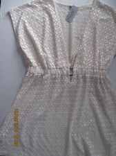 NWT J. Valdi Lacey Ivory Swim Beach Bathing Suit Cover Up Dress