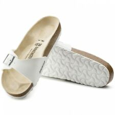 Birkenstock MADRID Womens Ladies Birko-Flor Casual Buckle Summer Sandals White
