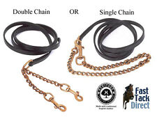 English Leather Show lead rein choice of Double or Single Chain  black or brown