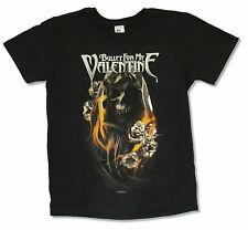 """BULLET FOR MY VALENTINE """"BURNING ROSES"""" BLACK SHIRT NEW OFFICIAL ADULT"""