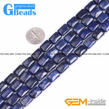 Blue Lapis Lazuli Gemstone Rectangle Beads For Jewelry Making Free Shipping 15""
