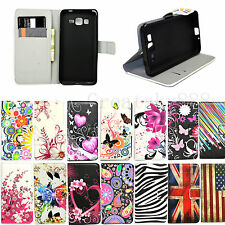 Stand Flip Wallet Leather Phone Skin Cover Case For Samsung Galaxy Mobile Phones