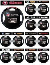 NFL FOOTBALL TEAM LOGO SUEDE MESH CAR AUTO STEERING WHEEL COVER-PICK YOUR TEAM!