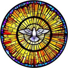 Stained Glass Dove 3D Window View Decal WALL STICKER Home Decor Art Mural Peace