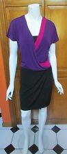 Maggy London Short Sleeve Color Block Career Dress NWT Sz 6 or 8