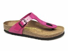 Birkenstock GIZEH Womens Ladies Birko-Flor Summer Sandals Toe-Post Pink Patent