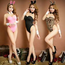 Fancy Sexy Adult Bunny Rabbit Cosplay Costume Lingerie Pajamas Outfit Clubwear