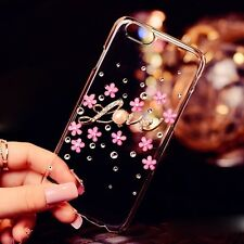 New Bling Flower Pearl Diamond Crystal Case Cover For Iphone 6 plus 5s 5c 4s xh4