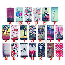 For Smart Phone Universal Chic Synthetic Leather Card Fold Shockproof Case Cover