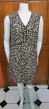 Anne Klein Animal Print Sleeveless Knee Length Sheath Dress Sz 14 or 16 NWT