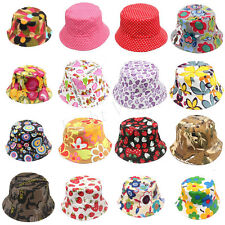 New Bucket Sun Kid Baby Boonie Floral Camping Hunting Fishing Outdoor Cap Hat