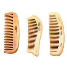 Natural wide tooth Peach wood no-static massage hair wood comb Brush