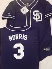 5615 Boys Youth San Diego Padres DEREK NORRIS Baseball Jersey NAVY BLUE New