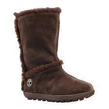 61642 Timberland Women's Mukluk Pull-On Boot with Faux Fur Lining Tan Chamois