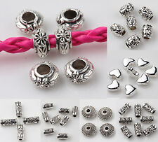 15/25/50pcs Tibet Silver Loose Spacer Beads Charms Pendants DIY Jewelry Finding