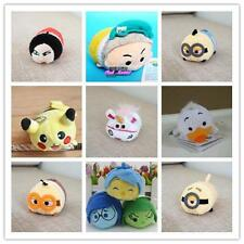 3.5'' Cute Phone Screen Wipe Tsum Tsum Keychain Plush Toy Inside Out New