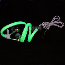 New Light Headphones Earphones Headset LED Luminous zipper In-Ear headphone