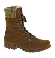 CAT Caterpillar Alexi Leather Womens Military Boots UK3-8