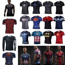 Superhero Gym Sports Compression Cycling T-shirts Outdoor Running Bicycle Jersey