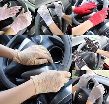Women's Sexy Floral Lace Gloves UV-proof Driving Gloves Wedding Bridal Gloves