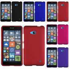 For Microsoft Lumia 640 LTE Rubberized Hard Matte Case Snap On Cover