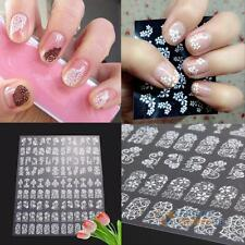 108pcs 3D DIY Flower Design Nail Art Stickers Flower Manicure Tips Decal 7Colors