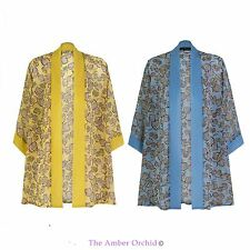 WOMENS LADIES BOHO RETRO FLORAL PRINT KIMONO CAPE CARDIGAN BLOUSE TOP 8-14