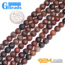 Dream Agate Gemstone Frost Round Beads For Jewelry Making Free Shipping 13""