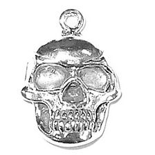 "Jewellery Silver Solid SKULL Pendant or Charm 3.4 Grams 3/4"" By  5/8""Jewelry"