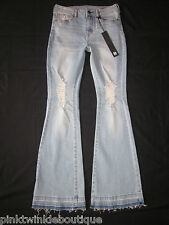 House Of Harlow High Rise Stretch Bell Bottoms Hippie Chick Destroyed LONG Tall