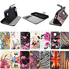 Stand Book Design Flip Leather Phone Skin Cover Case For Various HTC One Models