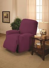 PURPLE RECLINER COVER-ALSO COMES IN SOFA COUCH LOVESEAT CHAIR FUTON SLIPCOVERS