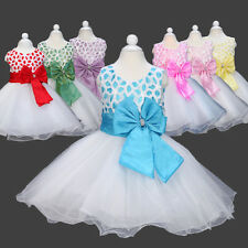 Baby Child Kid Girl Grid Plaid Voile Princess Party Evening Wedding Dress Clothe